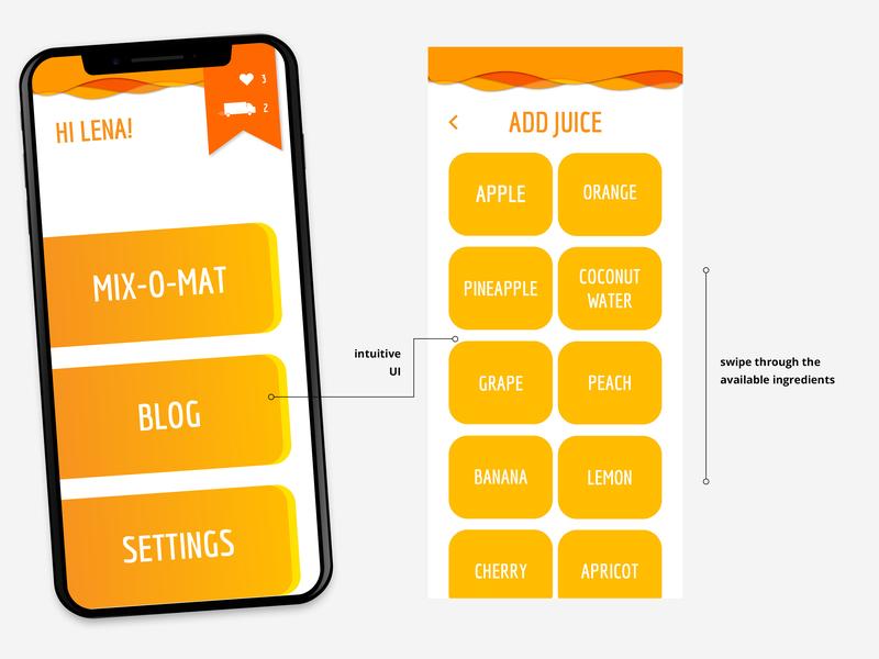 Juice'oleil App ux ui design ux ui mobile app design mobile logo juice interface design design app