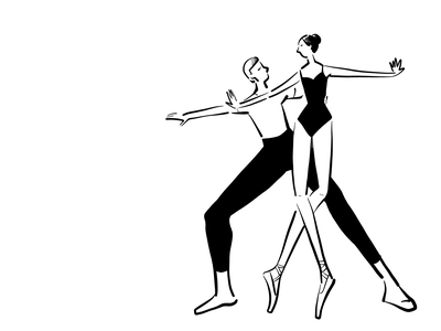 Ballet sketches vector art adobe black and whilte sketch sketches book illustration book fresco dancing ballet art illustration