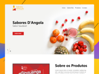 Sabores D'Angola Website Concept