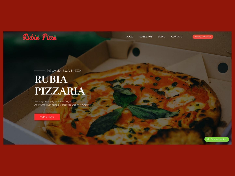 Rubia Pizzaria landing page clean ui design minimal flat website web webdesign restaurant food pizza adobexd