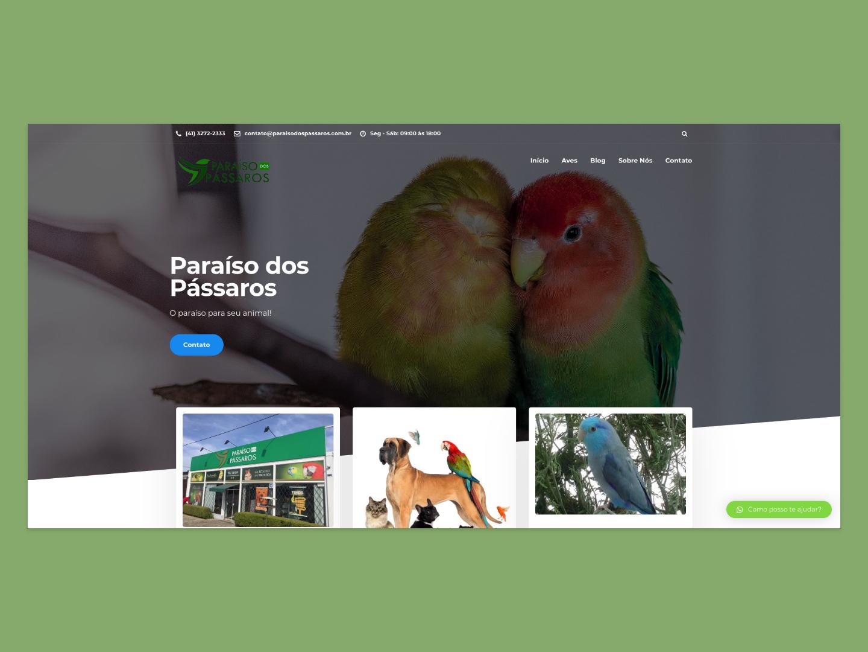 Paraíso dos Pássaros birds adobexd minimal flat website webdesign web landing page clean ui design
