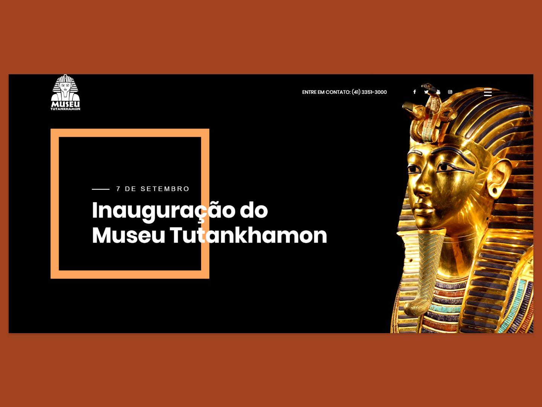 Museu Tutankhamon logo egypt architecture black uxdesign uidesign branding adobexd minimal flat ux website webdesign web landing page clean ui design