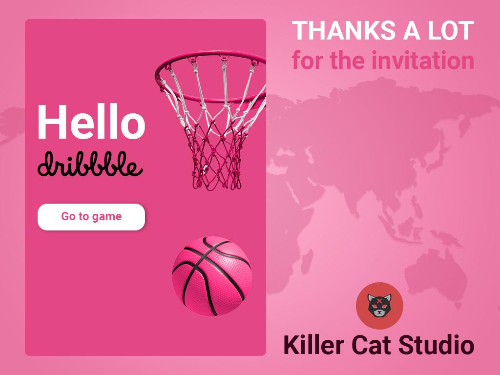 Hello Dribbble! work hello invite dribbble дизайн