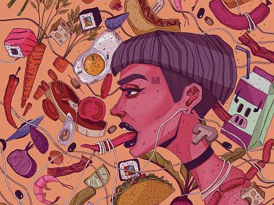 #fooodlover foodillustration food trippy texture character design wacom digitalart adobe photoshop illustration art illustrationartists illustration