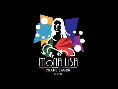 Mona Lisa - A craft lager brand logo