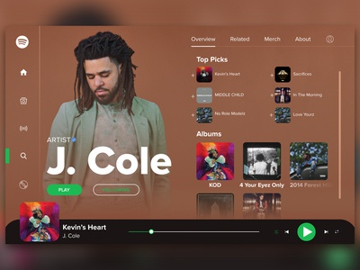 Spotify Artist Page Redesign