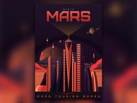 Visit Mars - A Mars Tourism Poster