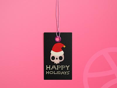 Happy Holidays, Dribbble! branding design christmas holiday dribbbleweeklywarmup