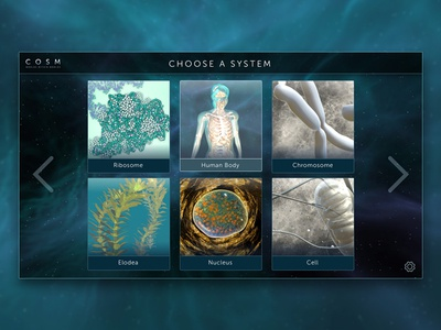 COSM: Worlds Within Worlds - VR selection menu