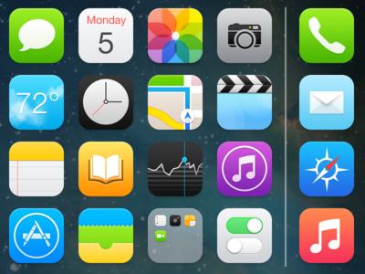 iOS 7 - Home Screen apple ios 7 ios 7 icons home screen springboard