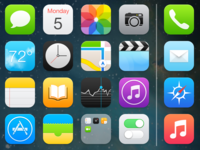 iOS 7 - Home Screen