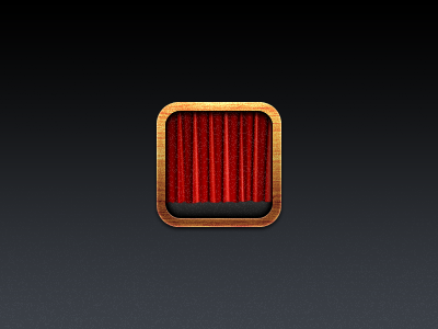 Icon wood brown red black white curtain icon iphone app photo booth photo booth ios