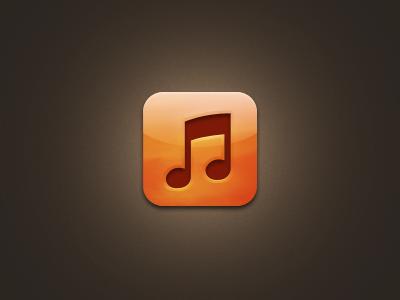 Music.app Icon music icon orange brown ios apple music.app