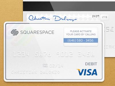 Squarespace Commerce Debit Card squarespace playoff commerce debit card cardboard visa hologram anthony casalena squarespace commerce