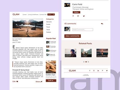 Blog Post Design ui design