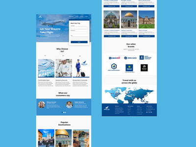 Airline Landing Page ui