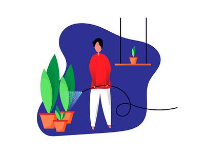 gardening illustration flat illustration illustraion drawing illustration