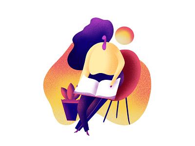 Reading book girls illustration procreate girl character girl illustration flatdesign flat illustration drawing illustration