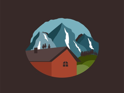 LANDSCAPE landscape badge badge logo design vector landscape flat landscape landscape