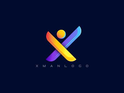 X letter with man/ xman logo modern logo modern man icon man icon x lette with man x letter modern logo x letter logo x letter x