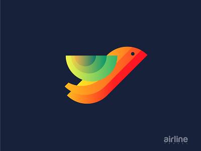 Airline Travel Modern logo colorful logo gradient modern travel logo modern plane logo plane logo travel logo