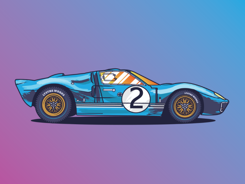 Ford GT 40  //AwesomeCarsProject. Vol. 02 logo vector gt40 cars ford