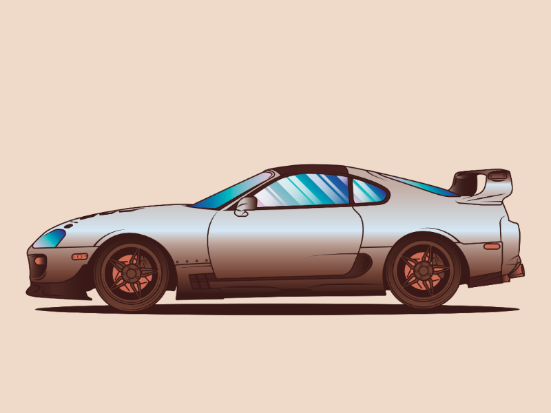 TOYOTA SUPRA  //AwesomeCarsProject. Vol. 04 japan automotive project cars illustration logo vector classic jdm toyota