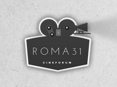 Logo/Mark for Roma 31 Cinema logo cinema vintage greyscale