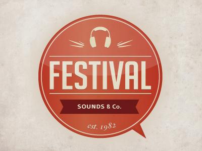 Festival Logo/Mark logo vintage music musica grunge rounded sound festival