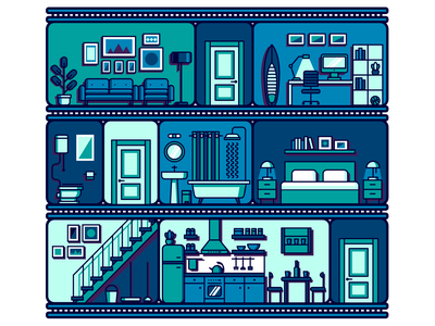 Copy-paste living spaces