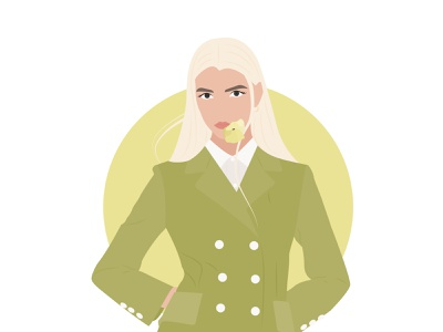 Bright look vector minimalistic illustration flat illustration people girl flat adobe illustrator minimalistic illustration design