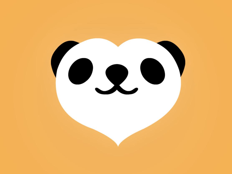 Panda Logo vector flat logo panda