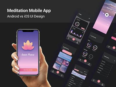 Android vs iOS UI Design ui app logo flat design android app ios