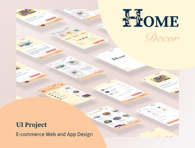 Design of e-commerce app & website