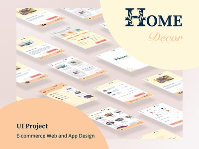 Design of e-commerce app & website branding ecommerce app ecommerce design web illustration ui design app