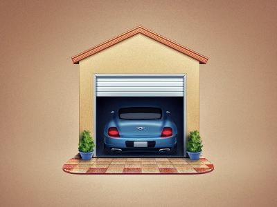 Garage garage icon car auto automobile vehicle