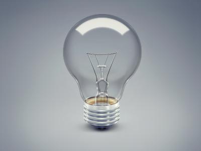 Bulb icon bulb light
