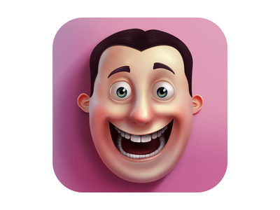 Emoji And Sticker Studio ios icon face character iphone ipad app application illustration smile head main