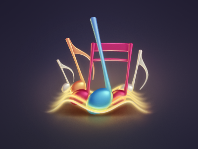 Streaming Music note music sound song streaming waves icon