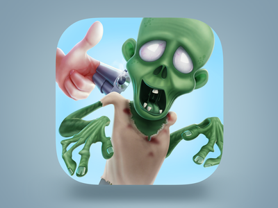 Gunfinger ios icon gun zombie cartoon 3d hand shoot shooter game