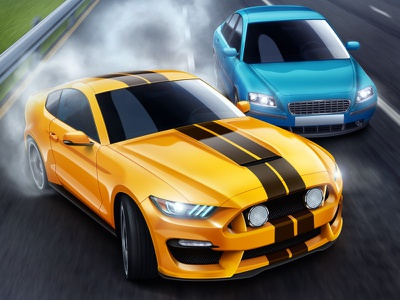 Drift cars car drift racing race speed road mustang shelby 3d auto wehicle