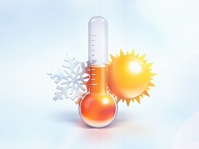 Temperature icon temperature thermometer weather sun snowflake cold heat
