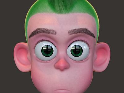 Punk Kid 3d art characterdesign c4d animation zbrush charactedesign cinema 4d 3d artist render 3d
