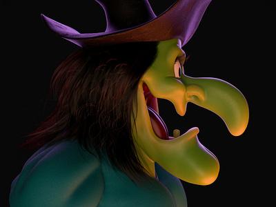Hazel Witch Looney Tunes motion design character charactedesign animation zbrush cinema 4d 3d artist 3d art render 3d