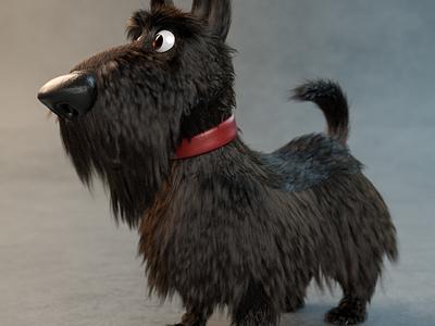 Dog 3D Model motion design character characterdesign c4d zbrush cinema 4d 3d artist 3d art render 3d