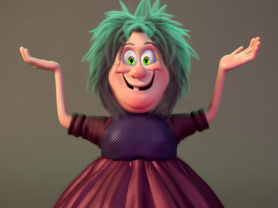 Madam Mim illustration motion design zbrush charactedesign animation 3d art 3d artist cinema 4d render 3d