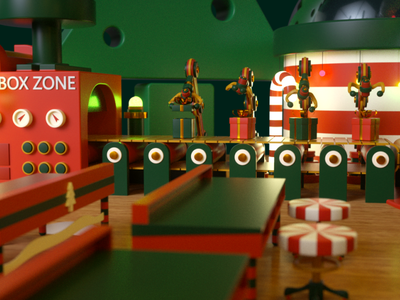 Christmas Work design motion design c4d render illustration animation cinema 4d 3d artist 3d art 3d