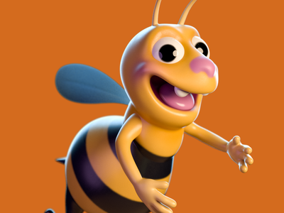 Bee motion design zbrush characterdesign animation c4d cinema 4d 3d artist 3d art render 3d