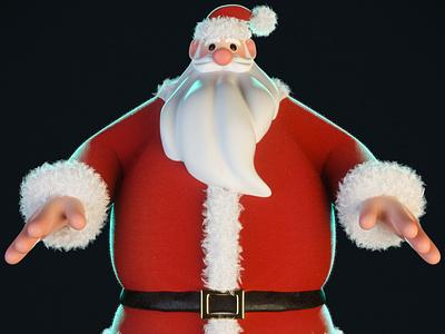 Santa animation motion design illustration characterdesign zbrush cinema 4d 3d artist 3d art render 3d