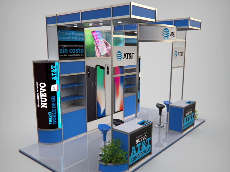 AT&T Stand stand stand design product render product render photoshop illustration design cinema 4d animation 3d artist 3d art 3d